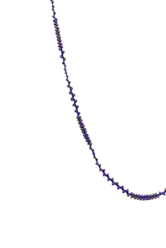 Long Seed Beads Necklace N3261 - Purple