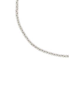 Simple Tiny Bead Chain Necklace for Pendant N3262 - White