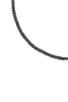 Simple Tiny Bead Chain Necklace for Pendant N3262 - Gun Metal