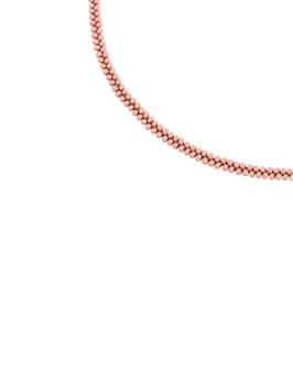 Simple Tiny Bead Chain Necklace for Pendant N3262 - Pink
