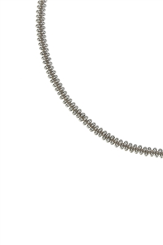 Simple Tiny Bead Chain Necklace for Pendant N3262 - Silver