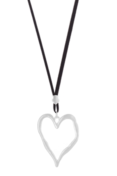 Hollow Heart Shaped Necklace  N3271
