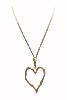 Hollow Heart Shaped Necklace  N3271 - Gold