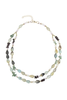 Charming Natural Stone Short Necklaces N3357 - Amazonite