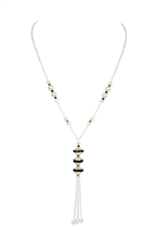Pearl Tassel Pendant Necklaces N3366 - White