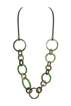 Acrylic Chain Necklaces N3385 - Green