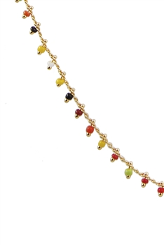 Sea Bead Chain Necklace N3404-18INCHES - Multi