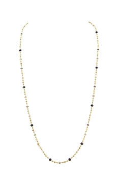 Crystal Chain Necklace N3405 - Black