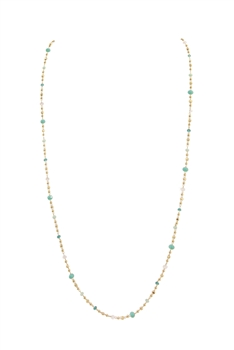 Crystal Chain Necklace N3405 - Green