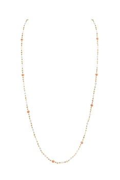 Crystal Chain Necklace N3405 - Orange