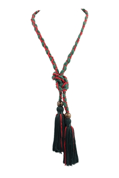 Texile Tassel Wrap Necklace N3411 - Green
