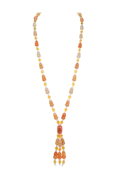 Red Aventurine Gourd Tassel Necklace N3425