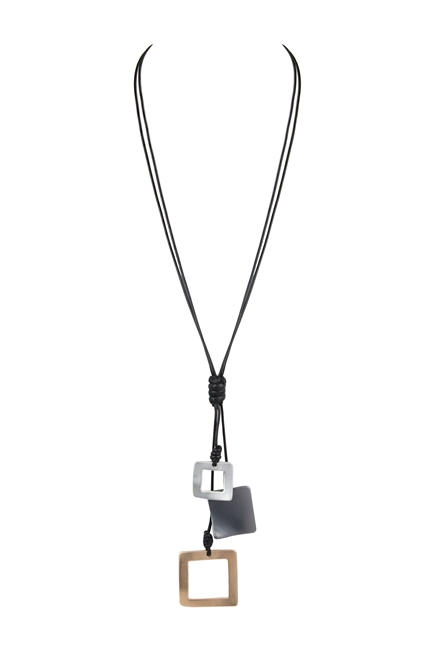 Irregular Metal Pendant Necklace N3462