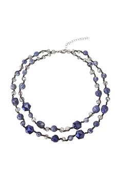 Layered Stone Necklace N3481 - Sodo Lite
