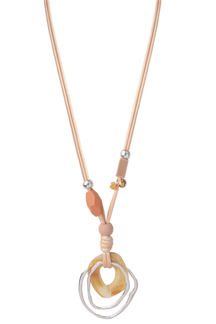 Acrylic Irregular Pendant Necklace N3490