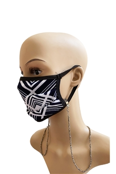 Crystal Mask Holder N3505 - Gun Metal