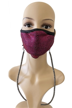 Crystal Mask Holder N3506 - Gun Metal
