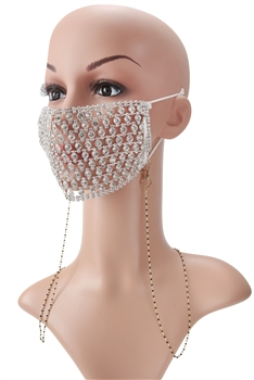 Metal Seed Beads Mask Holder N3533 - Black