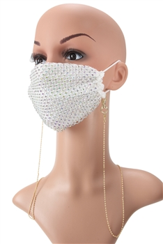 Metal Seed Beads Mask Holder N3535 - Beige