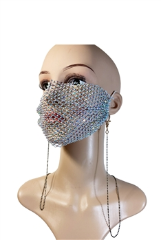 Metal Seed Beads Mask Holder N3535 - Black