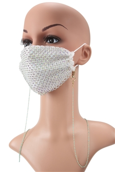 Metal Seed Beads Mask Holder N3535 - Blue