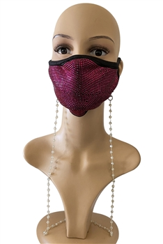 Crystal Beads Mask Holder N3563 - Clear