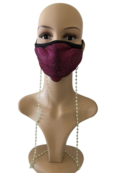 Crystal Beads Mask Holder N3563 - Green
