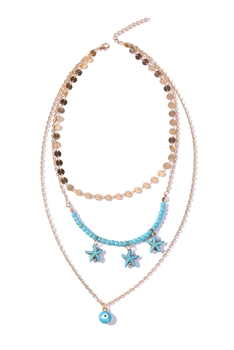 Multilayer Seafish Necklaces N3583