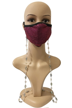 Crystal Beads Metal Chain Mask Holder N3601