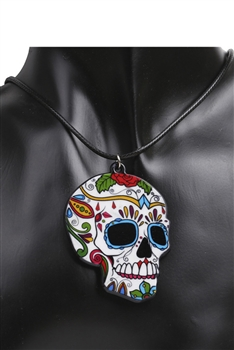 Acrylic Skull Pendant Necklaces N3613