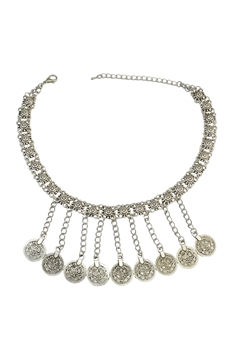 Coins Tassel Necklaces N3631