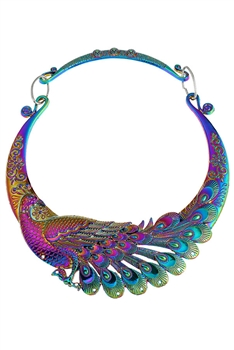 Alloy Peacock Choker Necklace N3648