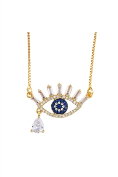 Against Evil Eye Zircon Pendant Necklaces N3658 - NO.1