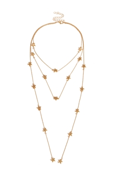 Stars Multilayers Chains Necklace N3661