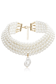 Pearl Multilayer Choker Necklace N3666