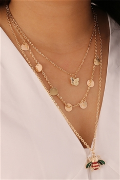 Coins Multilayer Chains Necklace N3677