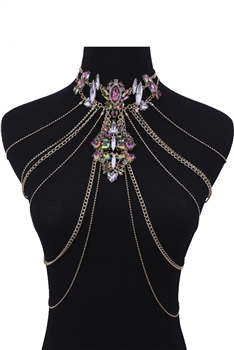 Crystal Body Chains Necklaces N3694 - Multi