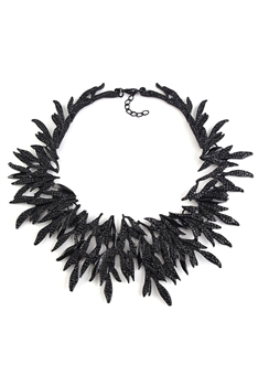 Alloy Leaf Choker Necklaces N3703