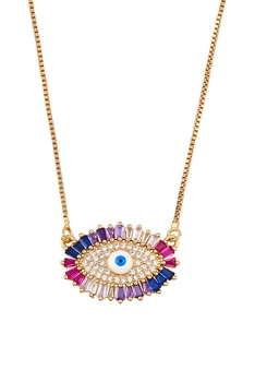 Zircon Against Evil Eye Necklace N3712
