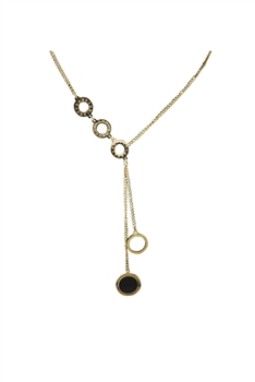 Circle Stainless Steel Chains Neckalce N3741 - Gold