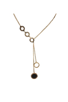 Circle Stainless Steel Chains Neckalce N3741 - Rose Gold