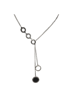 Circle Stainless Steel Chains Neckalce N3741 - Silver