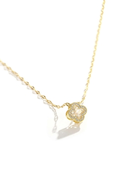 Clover Pendant Stainless Steel Necklace N3745