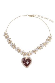Evil Eye Heart Necklace N3747