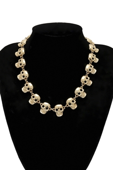 Skull Head Chains Necklace N3772
