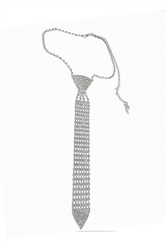Tie Rhinestone Necklace N3789