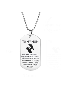 Mom Shield Stainless Steel Necklace N3831
