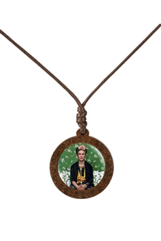 Firda Wooden Pendant Necklace N3852