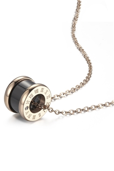 Ceramics Stainless Steel Necklace N3855