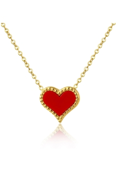 Heart Stainless Steel Necklace N3856